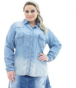 670f5c60f1b725 Camisas Femininas Azul-claro em Santa Catarina com o Melhores Preços ...