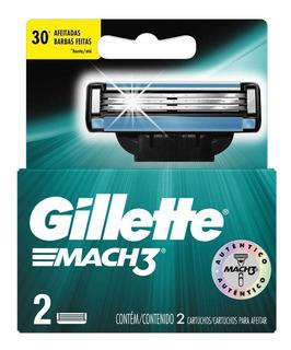 Gillette Cartuchos Repuesto De Afeitar Mach3 X 2 Un