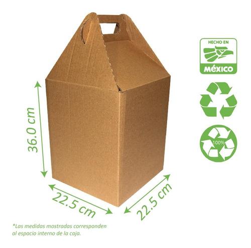 Caja Para Envios E-commerce 10 Pzas 22x22x36 Cm Corrugado