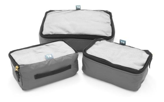 Kit 3 Cubos Organizadores De Ropa Packing Cubes Viaje Valija