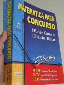 Matemática Para Concursos! Otimo Livro! Excelente Estado!