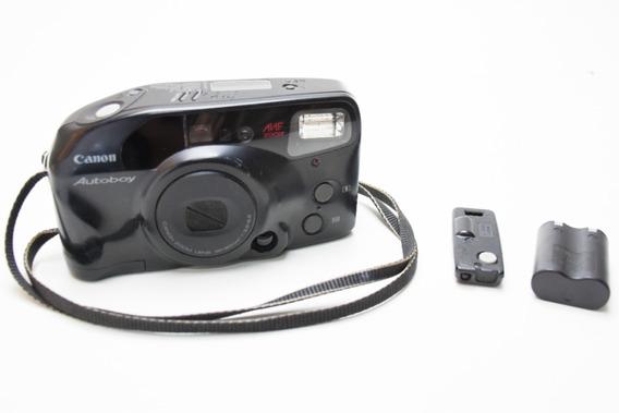 Câmera Canon Autoboy C/ Bateria E Controle - Leia Anuncio