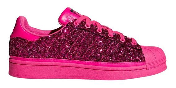 Zapatillas adidas Originals Superstar Fucsia Glitter Mujer