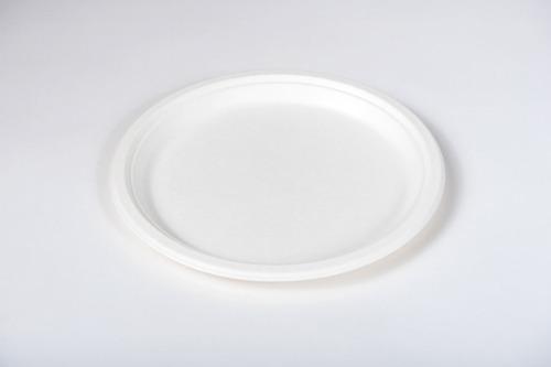 Pack 6x: Plato Llano Ceramica Blanca 32 Cm Diam Alta Calidad