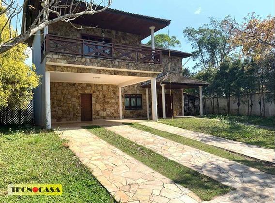 Belíssima Casa Com 02 Dormitórios Para Venda Com 530 M² No Bairro Lagoa Grande Em Embu-guaçu/sp. - Ca4507