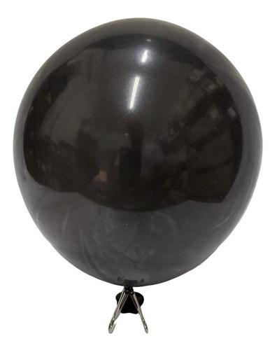 Globo Perlado 12 Pulgadas X25 Latex Color Negro