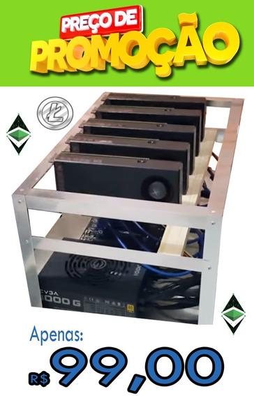 Rig Frame De Mineração Ethereum, Zcash, Monero Bitcoin Cash