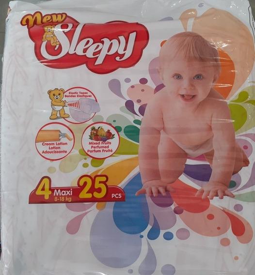 Pañales New Sleepy Etapa 4 De 8-18kg, 25 Pcs.
