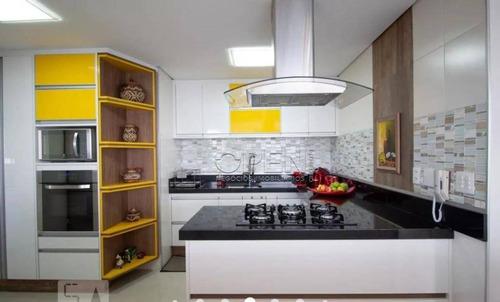 Apartamento Com 3 Dormitórios À Venda, 133 M² Por R$ 1.540.000,00 - Vila Scarpelli - Santo André/sp - Ap12330