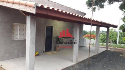 Chácara Com 2 Dormitórios À Venda, 625 M² Por R$ 170.000,00 - Chácara Recreio Cruzeiro Do Sul - Santa Bárbara D'oeste/sp - Ch0082