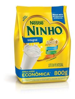 4 Unidades Leite Em Pó Ninho Integral Nestlé Sachê 800g Novo