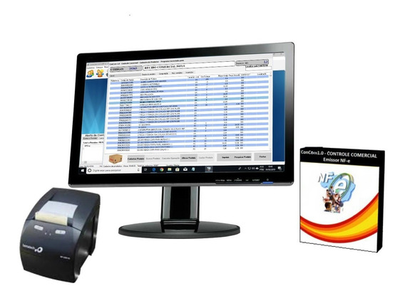 Emissor, Programa Nf-e, Nfc-e Controle Estoque Produtos, Pdv