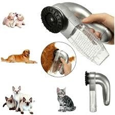 Escova Eletrica Tira Pelos Com Massageador Cachorro Portatil