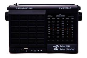 Rádio Motobrás 6 Faixas Am Fm Oc Com Usb Sd Card Rm-pu32ac