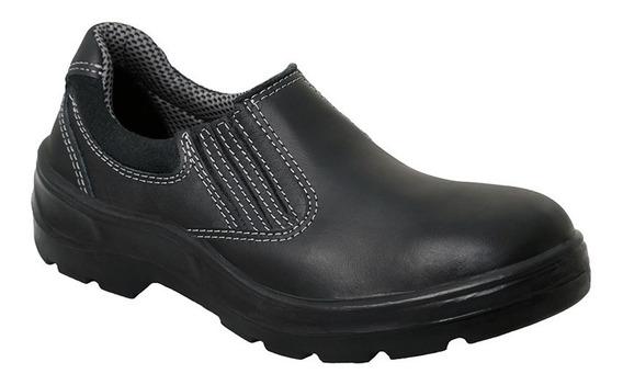 Sapato Vaqueta Preta Com Elástico Bota Brasil - 210