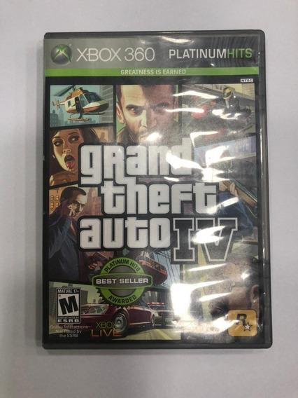 Game Xbox 360 Grand Theft Auto Iv Platinum Hits - Usado Bom