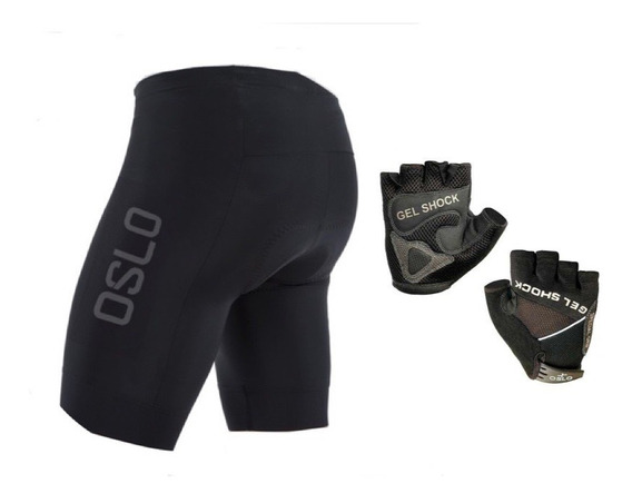 Calza Ciclista Corta Hombre Badana 3d +guantes Gel Pro Oslo