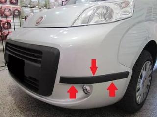 Fiat Qubo Protectores De Paragolpes Negros Molduras 50 Mm