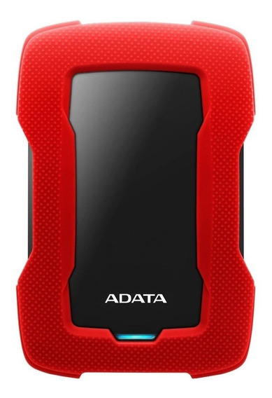 Disco duro externo Adata HD330 AHD330-2TU31 2TB rojo