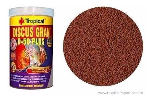 Ração Discos E Peixes Tropicais Discus Gran D-50 Plus 110g