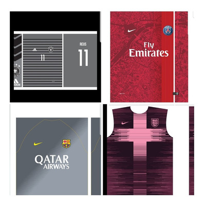 Layouts Para Uniformes De Futebol