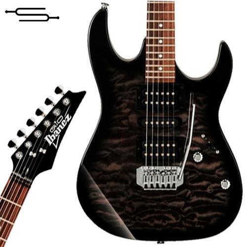 Imagen 1 de 6 de Ibanez Grx 70qa Negra Guitarra Electrica C/ Tremolo + Funda