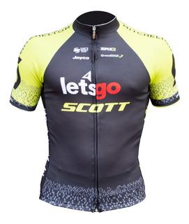 Conjunto Remera M/c + Maillot Gel Zr3 Team Scott Letsgo
