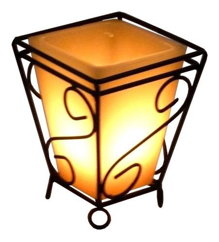 Suporte Quadrado 15 Cm Mesa Romântica Vintage Lanterna Vela Decoração 10 Cores De Luminária