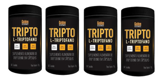 4x Triptofano Super Concentrado 860mg 60caps 5htp Serotonina