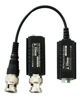 Kit De Tranceptores Baluns Turbo Hd 4k Conector 100 % Cobre
