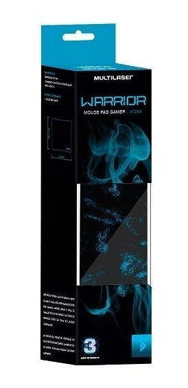 Mousepad Gamer Multilaser Warrior Ac288 Azul