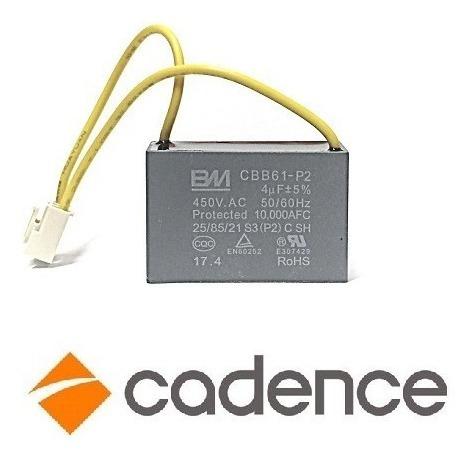Capacitor Cbb61-p2 4uf 220v 450v Para Panificadora Cadence