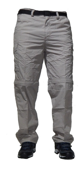 Pantalon Cargo Desmontable Cinturon Secado Rapido Jeans710