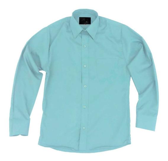 Camisa Vestir Para Adulto Verde Menta Tallas Extras 44 A 50