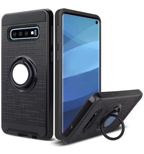 Protector Doble Capa Anillo Magnetico Samsung S10 S10e S10+®