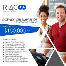 Diseño De Página Web Emprende + Dominio .cl + Cloud Hosting