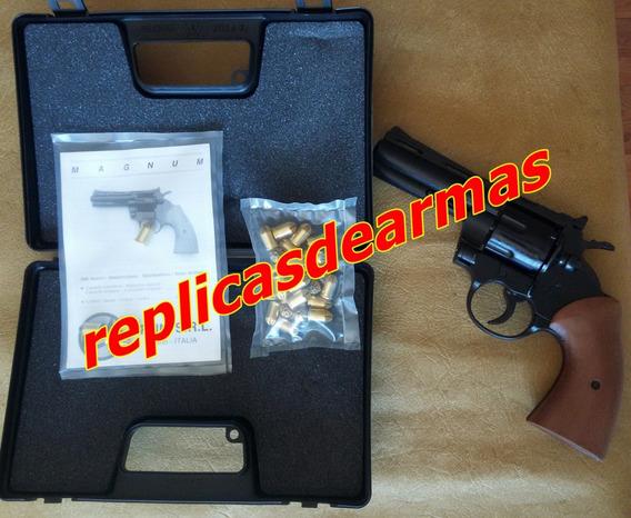 Revolver De Fogueo Python 357 + 25 Cartuchos Cal .380