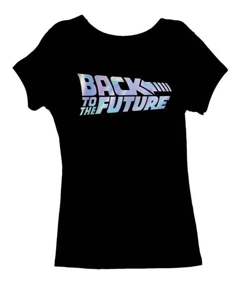 Remera, Volver Al Futuro Logo Tornasol Dama Original
