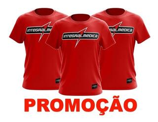Camiseta Vermelha - Dry Fit - Integralmedica 3 Un Oferta