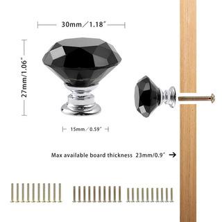Czc Home - 10 Pomos De Cristal De Diamante Para Armario, Arm