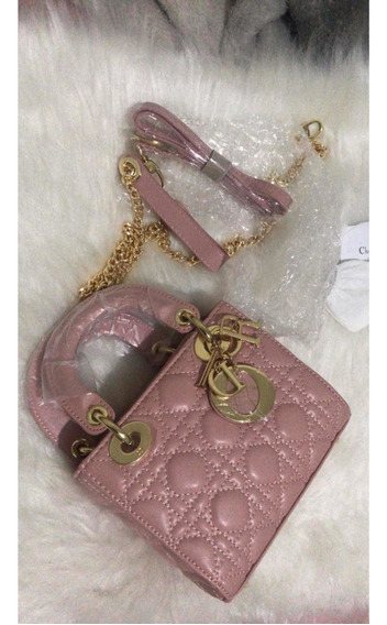 Bolsa Lady Dior Rosa Luxo Importada - Promoção