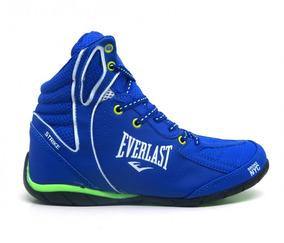 Tênis Everlast Strike Bota De Academia Azul E Verde Limão