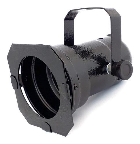 Spot Par 20 Preto Canhão Refletor C/ Porta Gelatina Volt