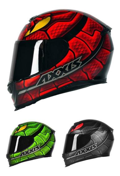 Capacete Axxis Snake Cobra Vermelho