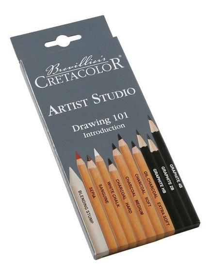 Set De Lapices Artist Studio Cretacolor Con 11 C/enviogratis