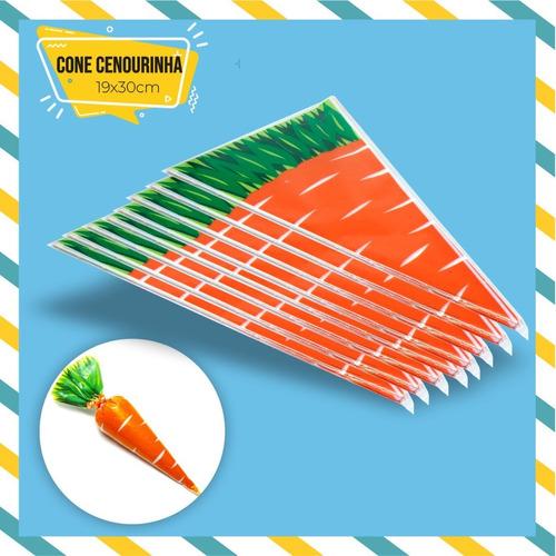 Imagem 1 de 1 de 80 Sacos Plastico Cone Cenourinha 19x30 Cone Bombom Pascoa