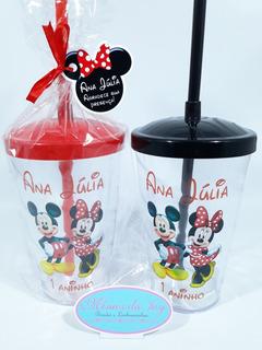 Copo Twister Minnie E Mickey 40unid Personalizados + Brinde