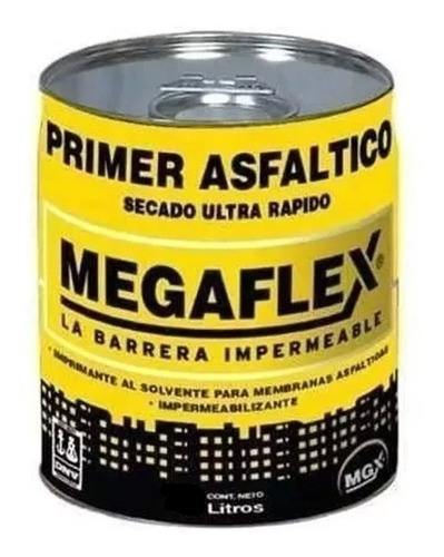 Imagen 1 de 6 de Pintura Asfaltica Megaflex Base Solvente X 1 Litro   Pintumm