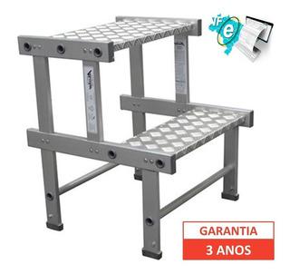 Banqueta Industrial Alumínio 40 Cm Carga 120 Kg + Frete