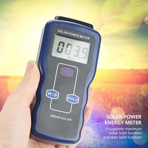 Imagen 1 de 9 de Sm206 Digital Solar Power Medidor De Luz Solar Radiación M